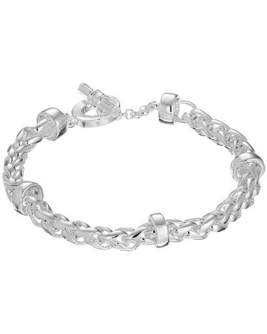 Lauren by Ralph Lauren   Metallic Braided Chain Bracelet   Lyst