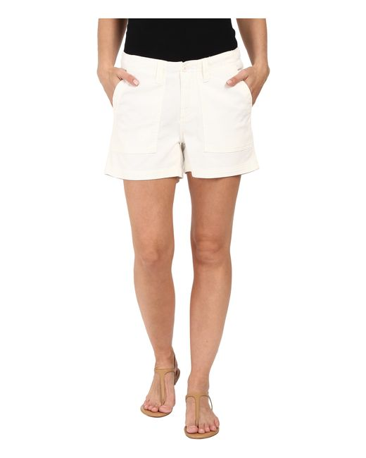 Dylan By True Grit | White Effortless Stretch Cotton Classic Cargo Shorts | Lyst