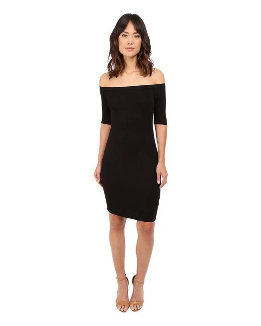 Splendid | Black 2x1 Off The Shoulder Rib Dress | Lyst