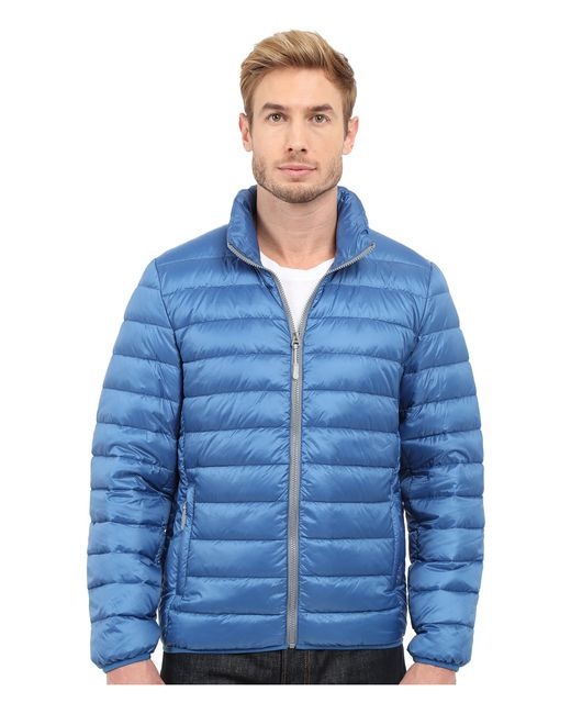 Tumi Patrol Packable Travel Puffer Jacket In Blue For Men