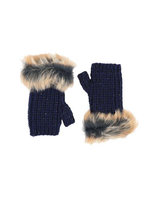 UGG | Blue Crochet Gloves W/ Lurex/sequins/toscana Trim | Lyst