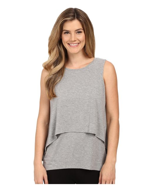 Midnight By Carole Hochman | Gray Lounge Tank Top | Lyst