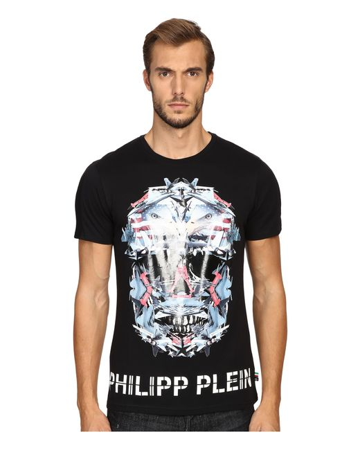 Philipp Plein | Black Pegasus Print Tshirt for Men | Lyst