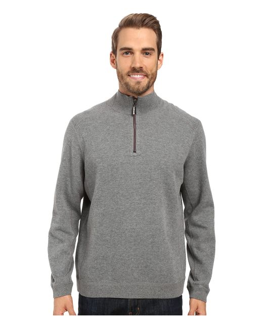 Tommy Bahama | Gray Reversible New Flip Side Pro 1/2 Zip for Men | Lyst