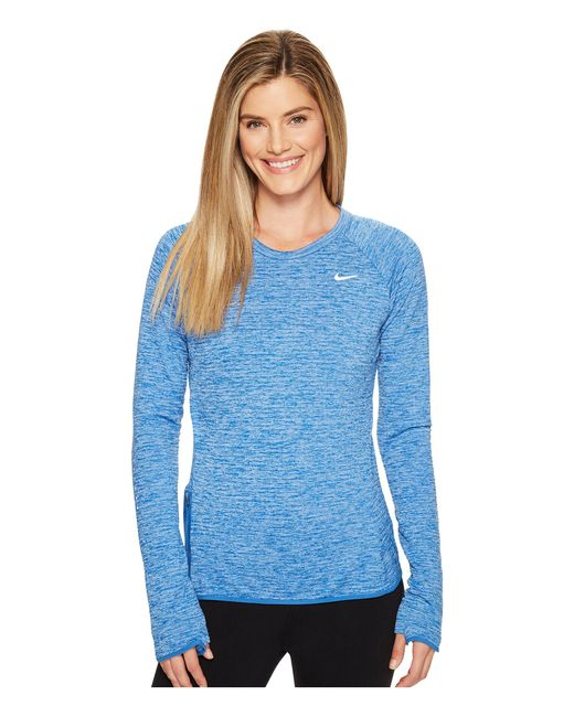 Nike   Blue Therma Sphere Element Crew Running Top   Lyst