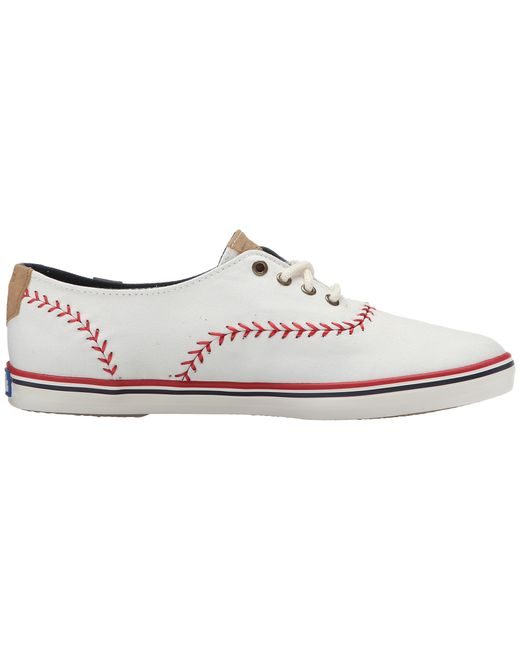 keds chion mlb pennant cubs in white white canvas