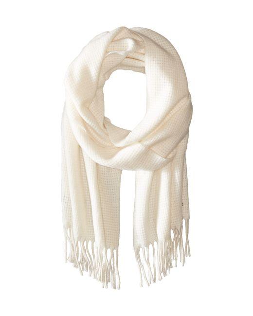Lauren by Ralph Lauren | Brown Cashmere Basket Weave Scarf | Lyst