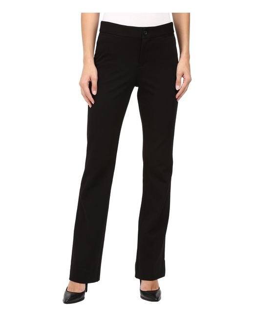 NYDJ | Black Teresa Modern Trousers In Stretch Twill | Lyst