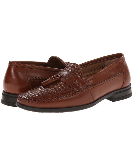 Nunn Bush - Pink Strafford Woven Moc Toe Loafer (cognac) Men's Slip On Shoes for Men - Lyst