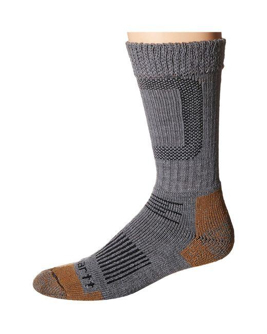Carhartt   Gray Merino Wool Comfort Stretch Steel Toe Socks 1-pair Pack for Men   Lyst