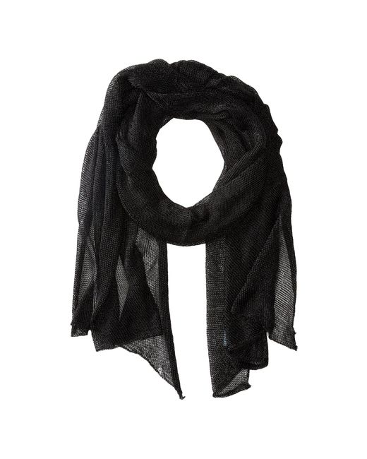 Betsey Johnson - Black Blue By Betsey Love Liquid Mesh Wrap (silver) Scarves - Lyst