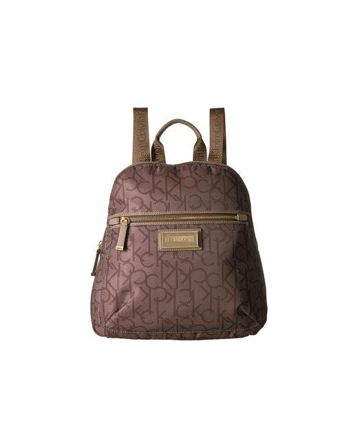 Calvin Klein | Brown Belfast Dressy Nylon Backpack | Lyst