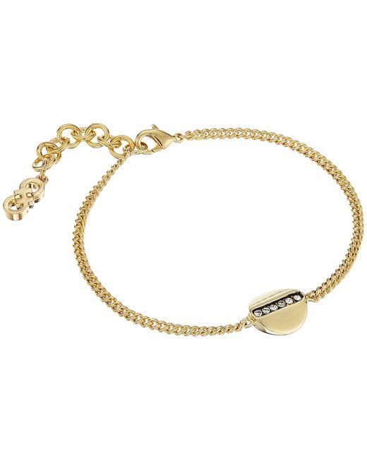 Cole Haan | Metallic Round Pave Bar Line Bracelet | Lyst