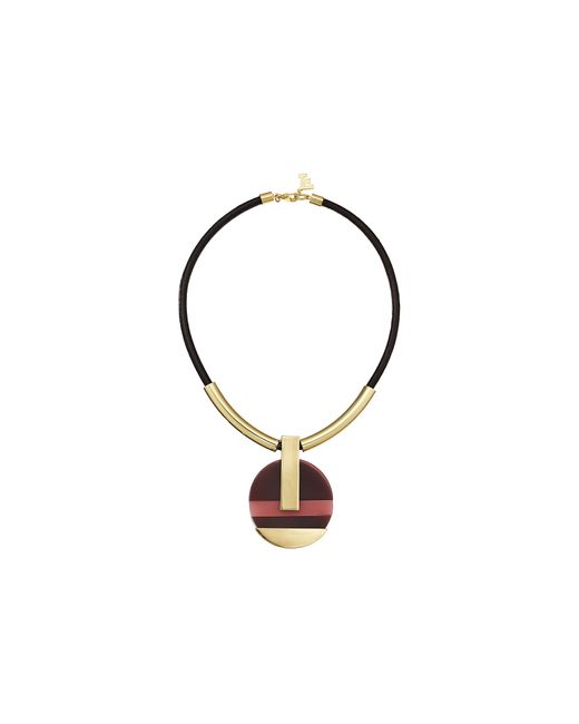 French Connection | Metallic Color Block Mod Pendant Necklace | Lyst