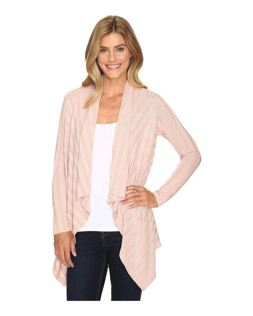 B Collection By Bobeau | Pink Simone Rib Knit Cardi | Lyst