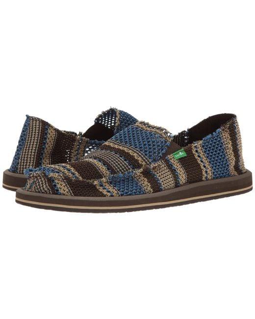 Sanuk | Blue Yew-knit for Men | Lyst