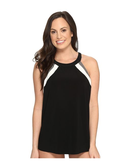 Miraclesuit | Black Spectra Triad Tankini Top | Lyst