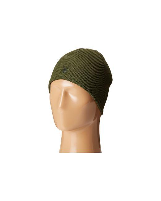 Spyder | Green Stryke Core Fleece Beanie for Men | Lyst