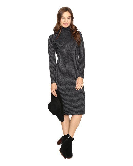 Kensie   Black Rayon Rib Midi Dress Ksdk7490   Lyst