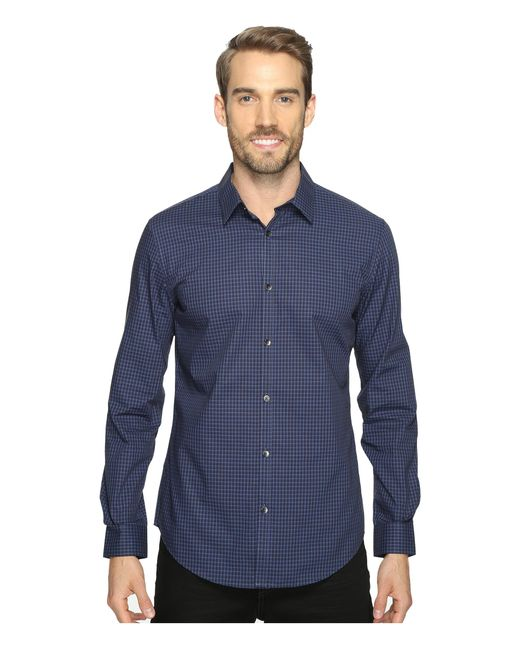 Calvin klein slim fit long sleeve infinite cool button for Cool long sleeve button up shirts