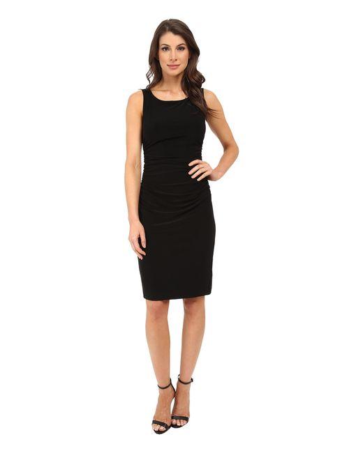 Kamalikulture | Black Sleeveless Shirred Waist Dress | Lyst