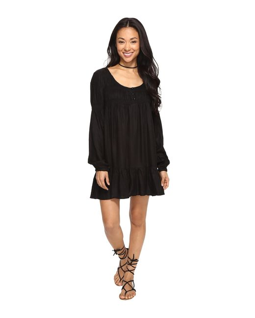 Volcom | Black Ethos Long Sleeve Dress | Lyst