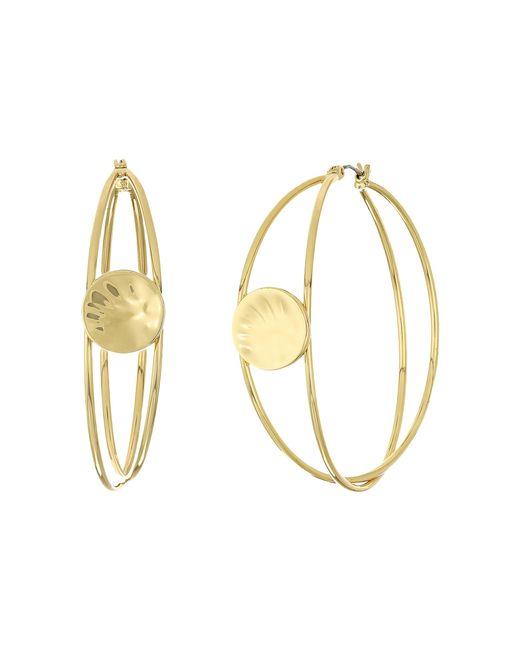 Robert Lee Morris | Metallic Gold Wire Wrapped Hoop Earrings | Lyst