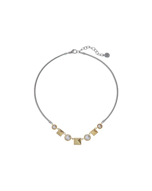 Majorica | White Why Not? Two-tone Necklace | Lyst