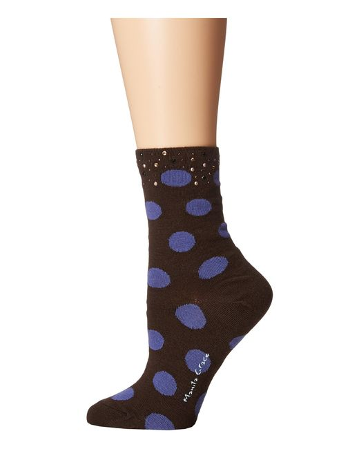 Manila Grace | Black Polka Dot Socks | Lyst