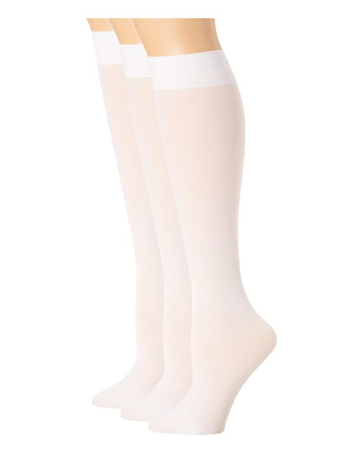 Hue | White Soft Opaque Knee High 3-pack | Lyst