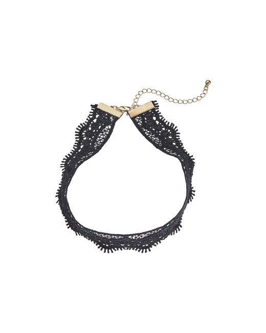 Steve Madden | Black Filigree Crochet Choker Necklace | Lyst