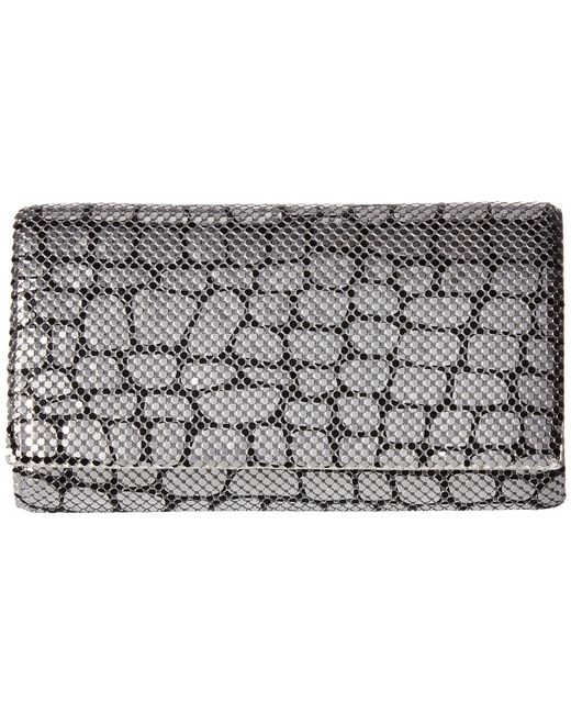 Jessica Mcclintock | Metallic Cassie Animal Print Mesh Clutch | Lyst