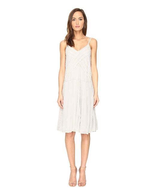RED Valentino   White Georgette And Lace Dress   Lyst