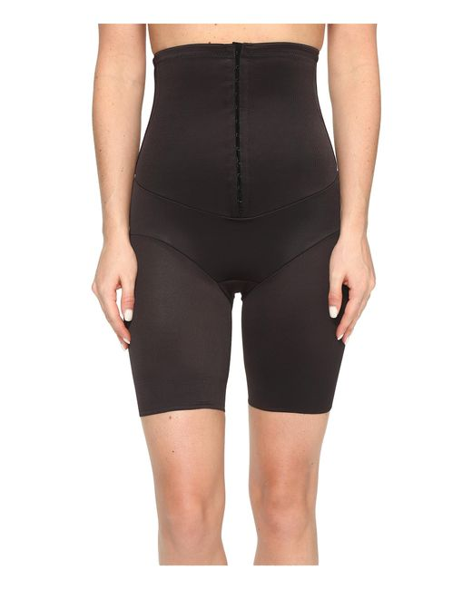 Miraclesuit | Black Inches Off Hook & Eye Waist Cinching Thigh Slimmer | Lyst