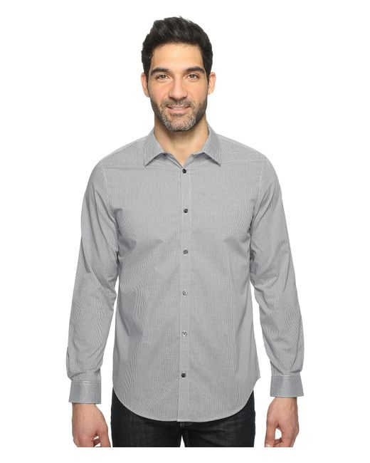 Calvin Klein | Gray Infinite Cool Check Button Down for Men | Lyst