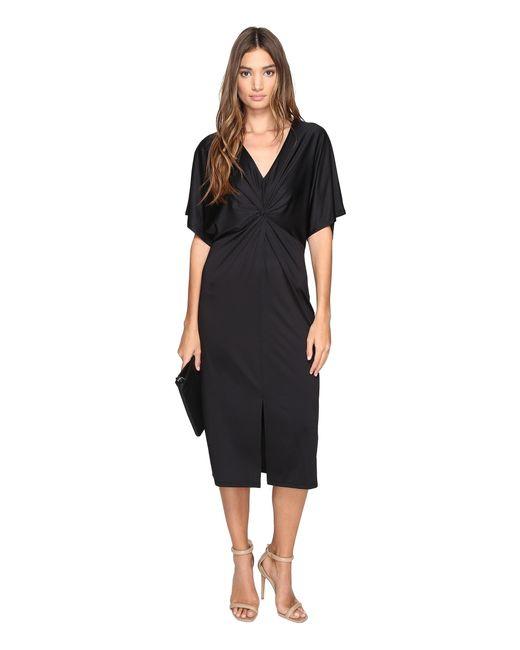Kensie | Black Lightweight Viscose Jersey Dress Ks2u7003 | Lyst