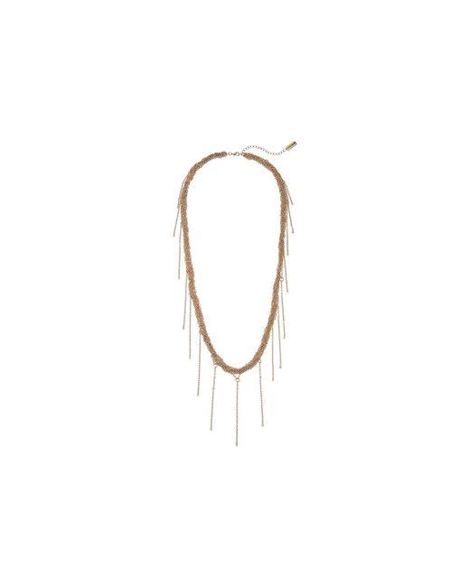Steve Madden | Metallic Braided Fringe Necklace | Lyst