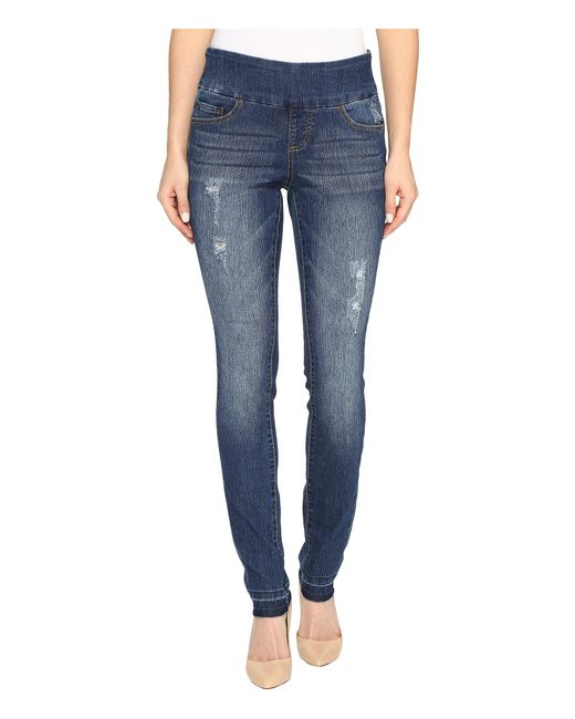 Jag Jeans | Blue Nora Pull-on Skinny Comfort Denim In Durango W/ Holes | Lyst