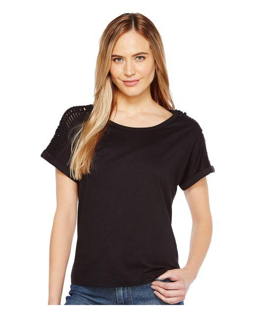 B Collection By Bobeau | Black Nash Macrame Detail T-shirt | Lyst