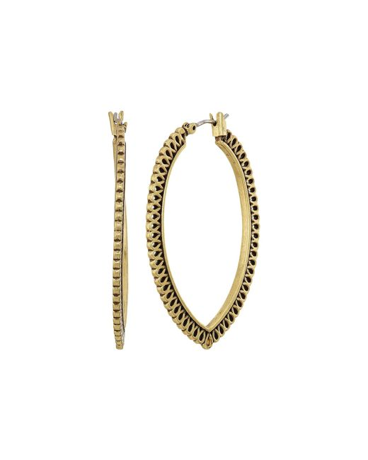 Lucky Brand | Metallic Openwork Hoop Earrings Ii | Lyst