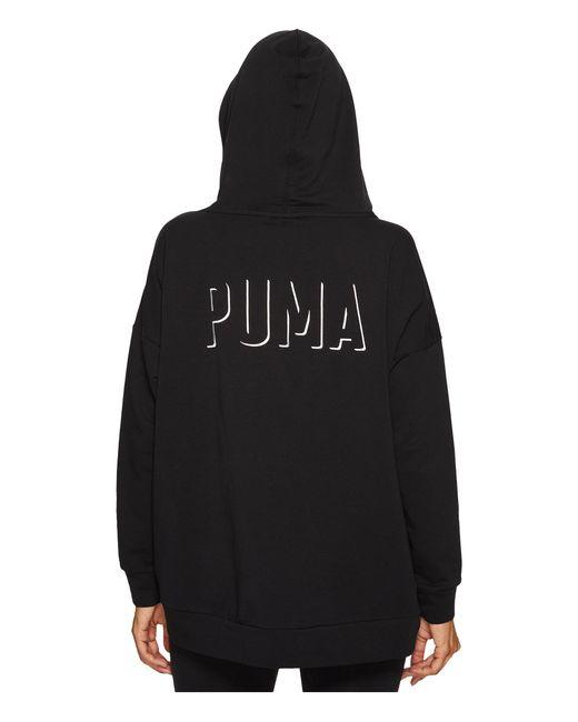 PUMA | Black Fusion Hoodie | Lyst