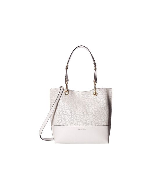 Calvin Klein | White Unlined Tote | Lyst