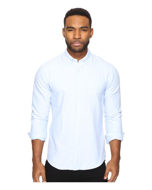 Scotch & Soda | Blue Classic Button Down Oxford Shirt for Men | Lyst