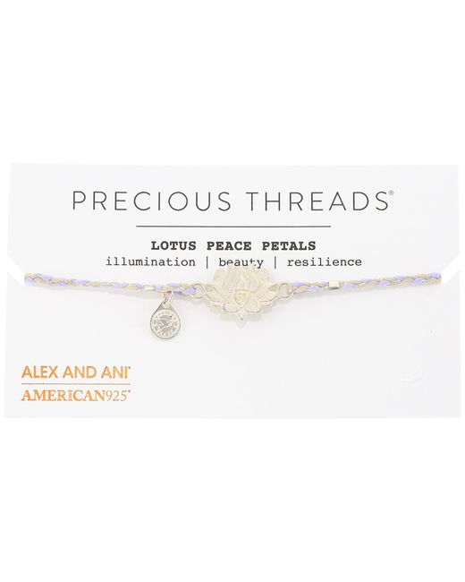 ALEX AND ANI | Metallic Precious Threads - Lotus Peace Petals Periwinkle Braid Bracelet | Lyst
