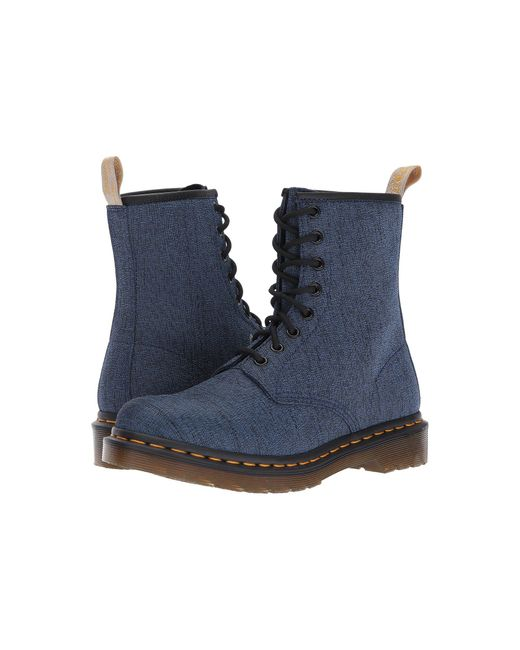 Dr. Martens | Blue Vegan Castel 8-eye Boot | Lyst