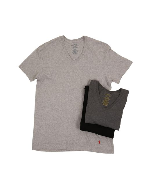 Polo Ralph Lauren | Gray 3-pack V-neck T-shirt for Men | Lyst