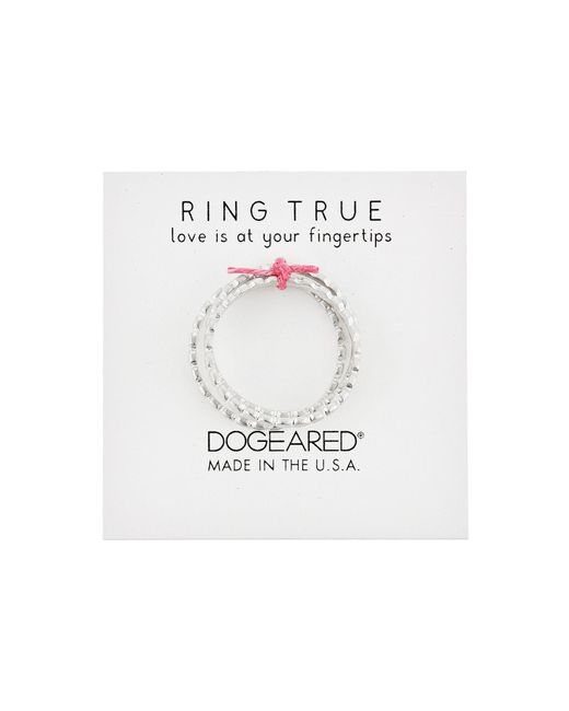 Dogeared | Metallic The Circle Thin Multi Circle Rings Set Of 3 | Lyst