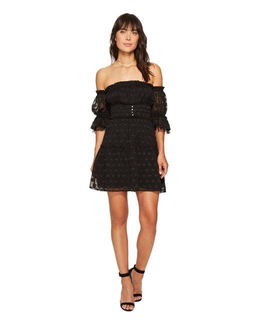 For Love & Lemons | Black Modern Love Off Shoulder Dress | Lyst