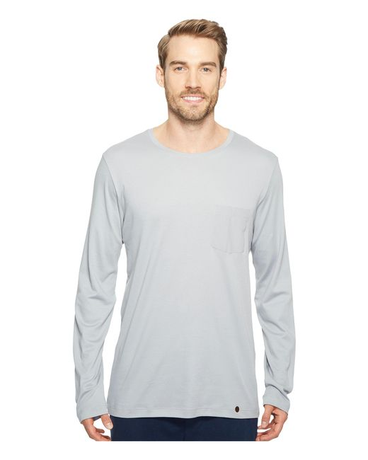 Hanro   Gray Night And Day Long Sleeve Shirt for Men   Lyst