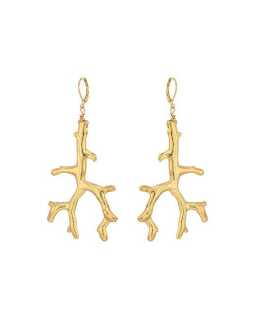 Kenneth Jay Lane | Metallic Polished Gold Branch Eurowire Ear Earrings | Lyst